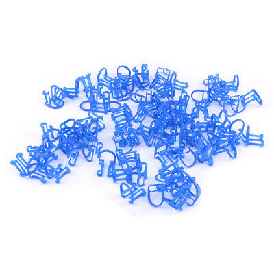 100pcs Disposable Cotton Roll Holder Blue Clip for Isolate Teeth Clinic Supplies
