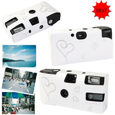 Disposable Camera with Flash White and Silver Enchanted Heart Packs of 1-10