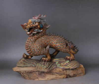 Chinese antiques Tang Sancai Painted pottery Dragon