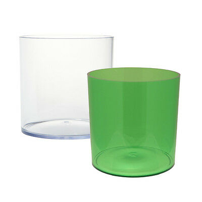 15cm Green / Clear Acrylic Cylinder Vase Durable Plastic Designer Container