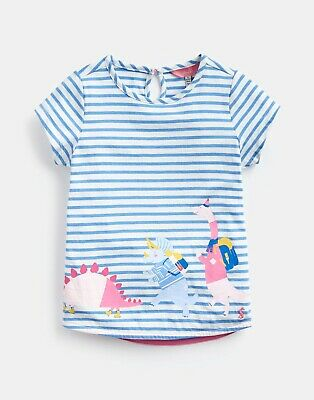Joules Pixie Dino Short Sleeved Girls T-Shirt BNWT