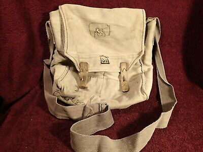 Vintage Wwii Gas Mask Shoulder Canavas Bag Finland Finnish Army Sa Military