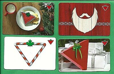 4 Canadian Tire Canada Christmas Bilingual Gift Cards   No  Value