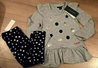 Bnwt - Stunning Girls Top And Leggings Set - Age 4 Years - Tommy Hilfiger £21.50