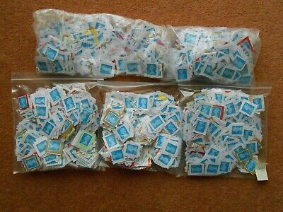GB 5000 used franked 2nd second class blue machin security stamps on paper Lot A