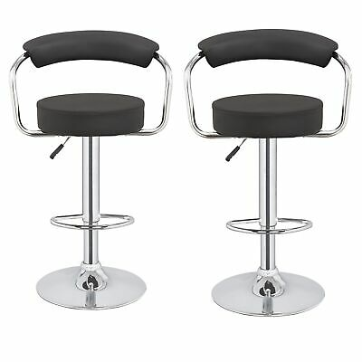 2 x Homegear M1 50s Diner Adjustable Swivel Faux Leather Bar Stools / Chairs