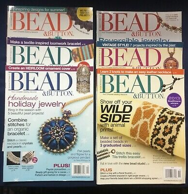 Bead and Button Magazine Six Issues