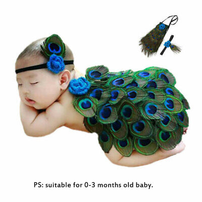 Crochet Knitte 0-6 Months Photography Prop Soft Baby Peacock Costume Cute Gift