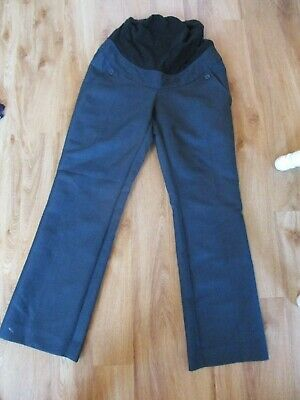 Blooming Marvellous Maternity Navy Twill Over Bump Work Trousers Size 8