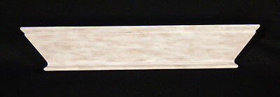"""Wall Shelf Antique White/Chocolate Tones Floating 22"""" Cornice Front"""