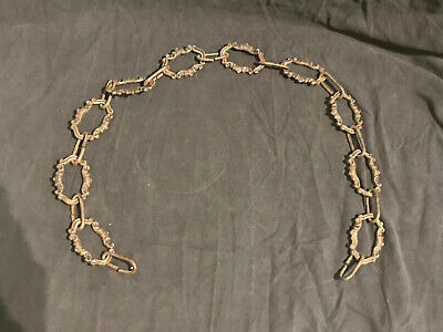 """Vintage French Brass chandelier chain 37"""" long nice age patina"""