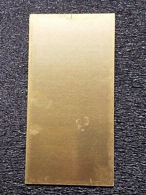 "Brass Sheet/Plate 16 Gauge 0.0600"" Approximately 8.500""X 3.750"" New"