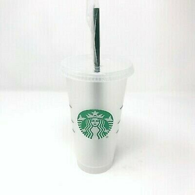 Starbucks Reusable Plastic Venti Cup Clear Frosted - 24 oz Cold