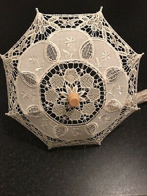 Beige Lace Parasol Hand Made