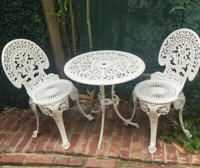 Cast Iron Colebrookdale Style Vintage Table and Chairs