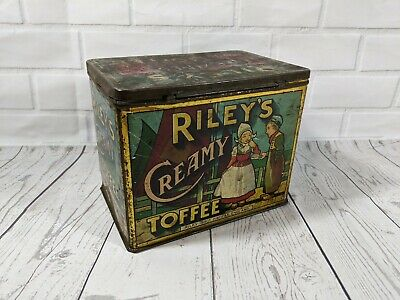 Vintage Riley's Creamy Toffee tin, made in England