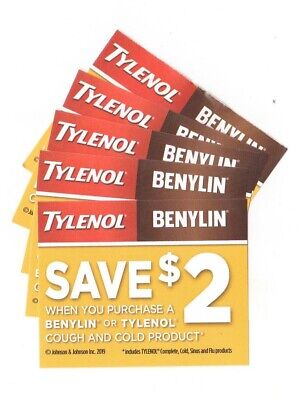 8 x Save $2.00 on Tylenol Cough & Cold or Benylin Products Coups (Canada)