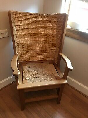 Orkney Chair  At least 75 years old. Traditionally Hand Made Straw Back