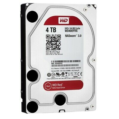 "Western Digital Red 4TB 3.5"" SATA Internal NAS Hard Drive HDD 5400RPM WD40EFRX"