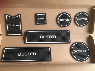 Dacia Duster (2010- 2018) Interior Dashboard Gate Pad Mats Only White