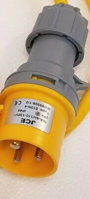 JCE 16A + 32A 110V Yellow 3 Pin Industrial  Site Plugs Sockets Couplers IP44