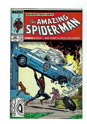 Amazing Spider-man #306, VF+ 8.5, Todd McFarlane Cover Homage Action Comics #1