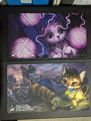 4x Cat Themed SCG Creature Collection Playmats MTG