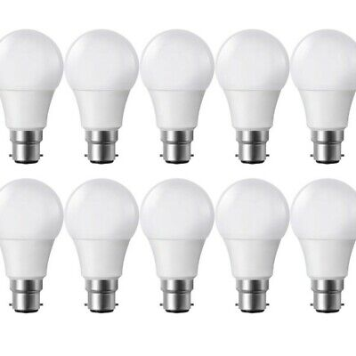 Lot de 10 Ampoules LED B22 9W eq 60W 806m Blanc chaud