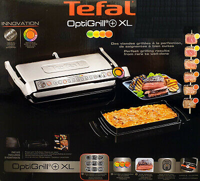 Tefal Optigrill+ XL Kontaktgrill GC724D.SB Snacking & Baking, GC722D + XA7268