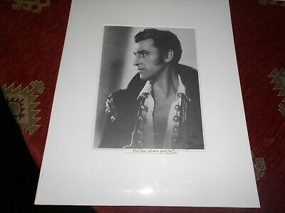 Signed & Mounted Stewart Granger Autograph Book Page British Actor (1913-1993)