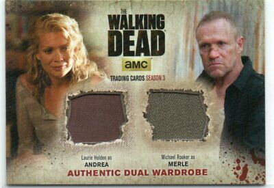 The Walking Dead Authentic Dual Wardrobe Holden as Andrea/Rooker as Merle