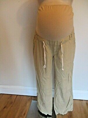Blooming Marvellous Maternity Sand Over Bump Roll Up Cargo Trousers Size 14