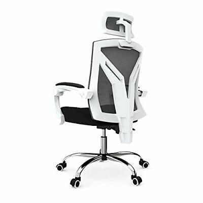 Hbada Ergonomic Office Chair - High-Back Desk Chair Racing Style White Normal