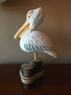 Hand Carved Painted Pelican