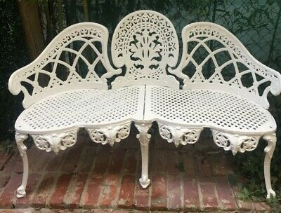 Cast Iron Colebrookdale Style Antique Garden Bench Seat