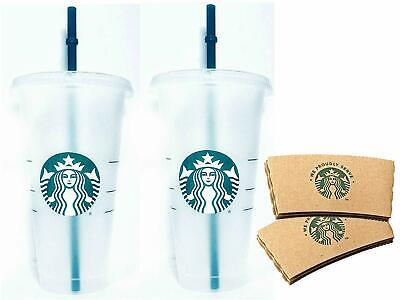 Starbucks Reusable Venti 24 fl oz Frosted Ice Cold Drink Cup Bundle Set of 2