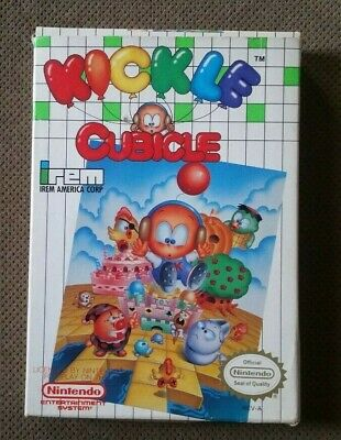 Kickle Cubicle Nintendo NES Complete CIB Game Cart Manual Box Authentic Tested