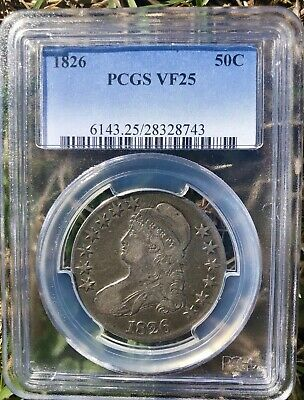 1826 Capped Bust Silver Half Dollar PCGS VF 25 HIGH GRADE ORIGINAL CONDITION