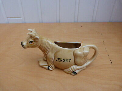 Collectable Vintage Retro Ceramic Jersey Cow Milk/Creamer Jug H8cm L14cms