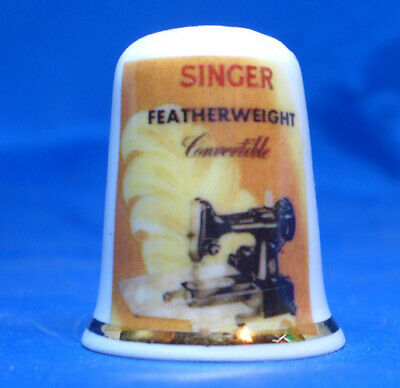China Thimble - Singer Featherweight Convertible Sewing Machine - Free Gift Box