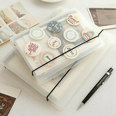 A5 A6 A7 Transparent Loose Leaf 6 Ring Binder Notebook Planner Diary Cover HOT