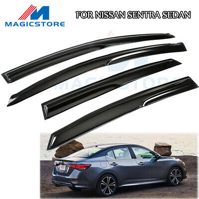 For 2013 2019 Nissan Sentra Black Trim Window Visor Vent