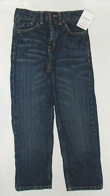 NEW TIMBERLAND BLUE DENIM JEANS 6 boys DISTRESSED DARK WASH STRAIGHT LEG PANTS