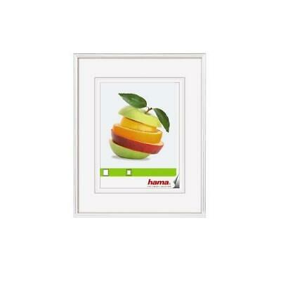 "[Ref:66298-4] HAMA Lot de 4 Cadres photo en plastique ""Sevilla"" blanc 40 x 40 cm"