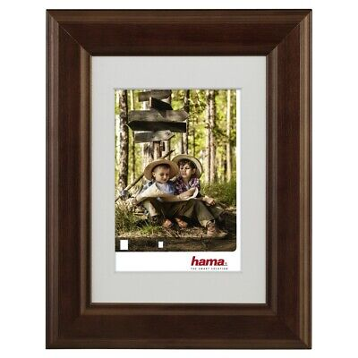 "[Ref:00126272-4] HAMA Lot de 4 Cadres photo en bois ""Iowa"", noisette, 15 x 20 cm"