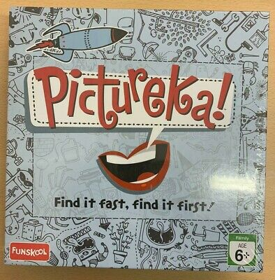 Pictureka! New Sealed Board Game, Damaged Box, Find It Fast, Find It First