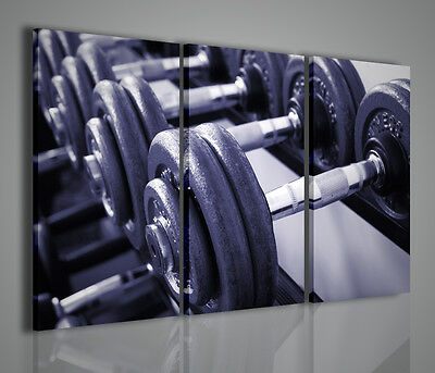 Paintings Modern Workout Painting Modern Body Building Weights Decor Gym