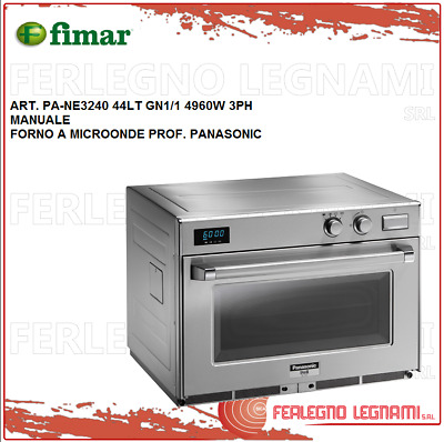 Microwave Oven Prof Panasonic 44LT 4960W 3PH Manual Stainless Fimar PA-NE3240