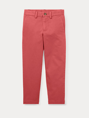 Polo Ralph Lauren Boys Cotton Red Chinos / Trousers - 7 years - **BNWT**