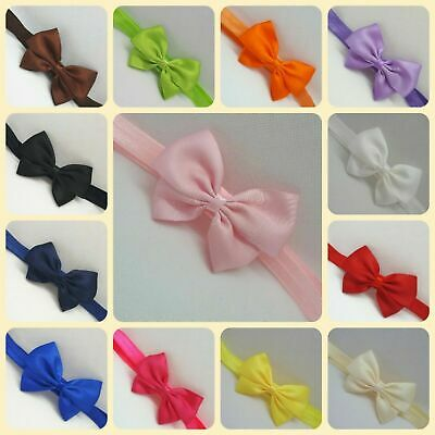 Baby Girl Bow Headband Hairband Infant Newborn Toddler Hair Accessories Made UK